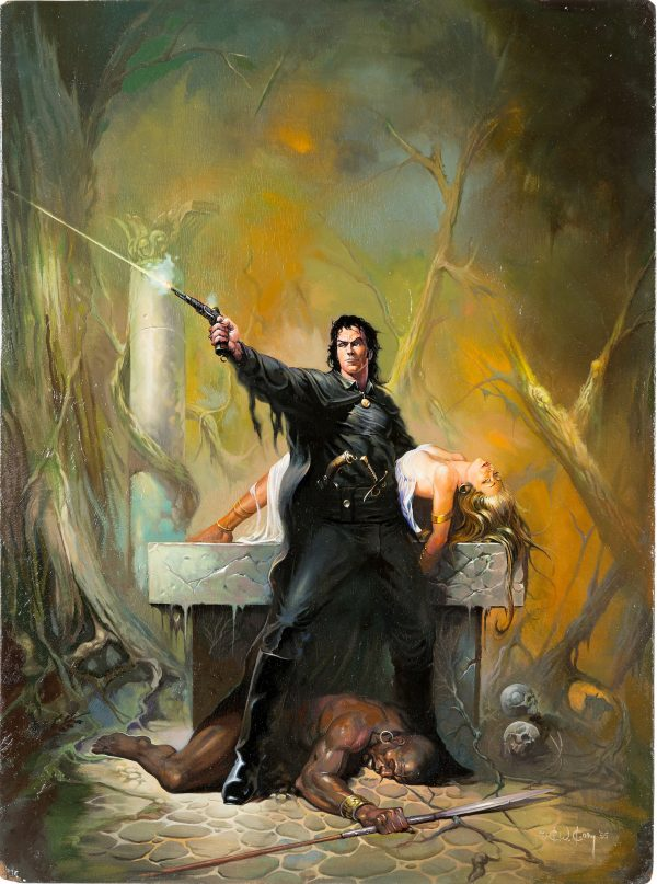 Solomon Kane Cover Painting Original Art (Baen Book, 1995)