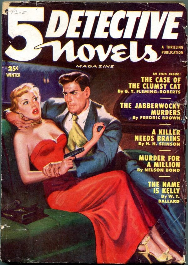 5 Detective Novels Winter 1951
