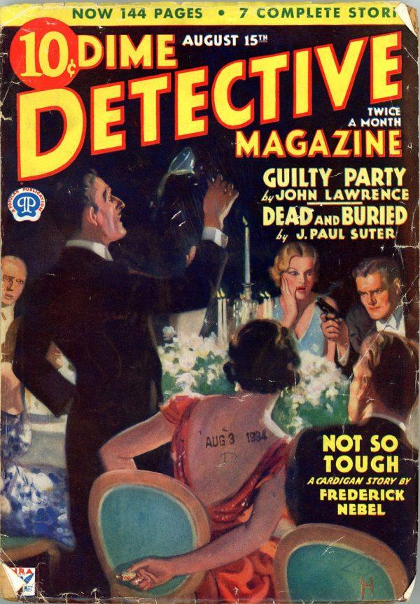 DIME DETECTIVE MAGAZINE. August 15, 1934