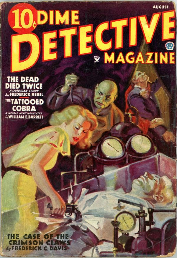 DIME DETECTIVE MAGAZINE. August, 1935
