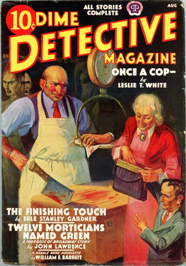 DIME DETECTIVE MAGAZINE. August 1938