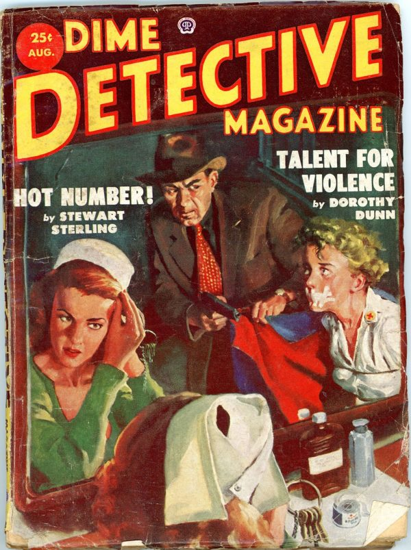 DIME DETECTIVE MAGAZINE. August 1953