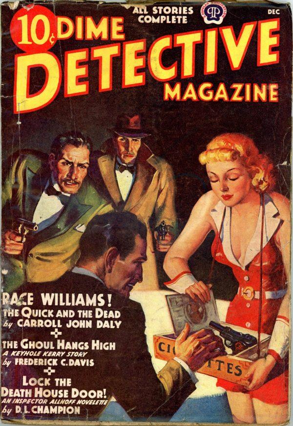 DIME DETECTIVE MAGAZINE. December 1938