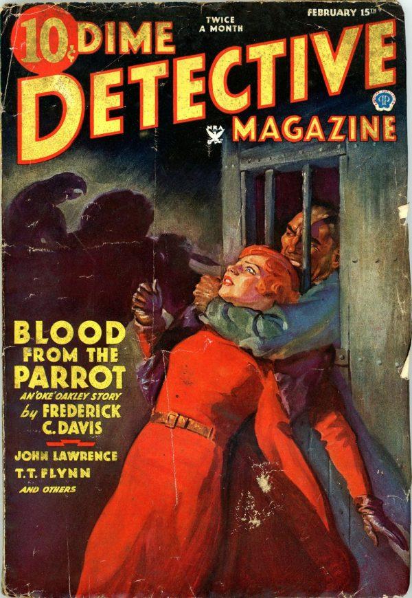 DIME DETECTIVE MAGAZINE. February 15, 1935