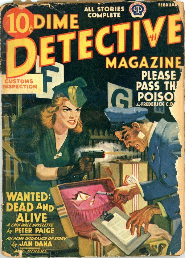 DIME DETECTIVE MAGAZINE. February 1941
