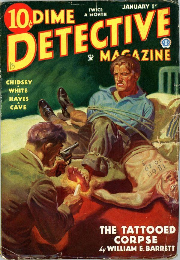 DIME DETECTIVE MAGAZINE. January 1, 1935