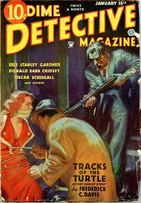 DIME DETECTIVE MAGAZINE. January 15, 1935