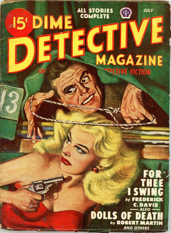 DIME DETECTIVE MAGAZINE. July 1948