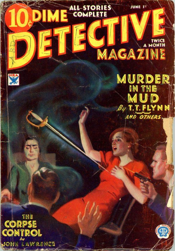 DIME DETECTIVE MAGAZINE. June 1, 1934