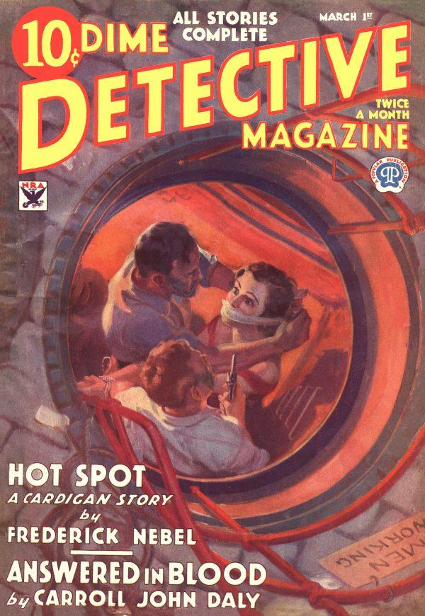 DIME DETECTIVE MAGAZINE. March 1, 1934
