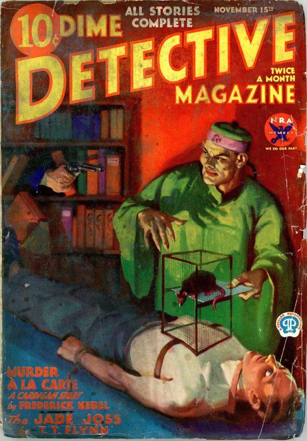 DIME DETECTIVE MAGAZINE. November 15, 1933