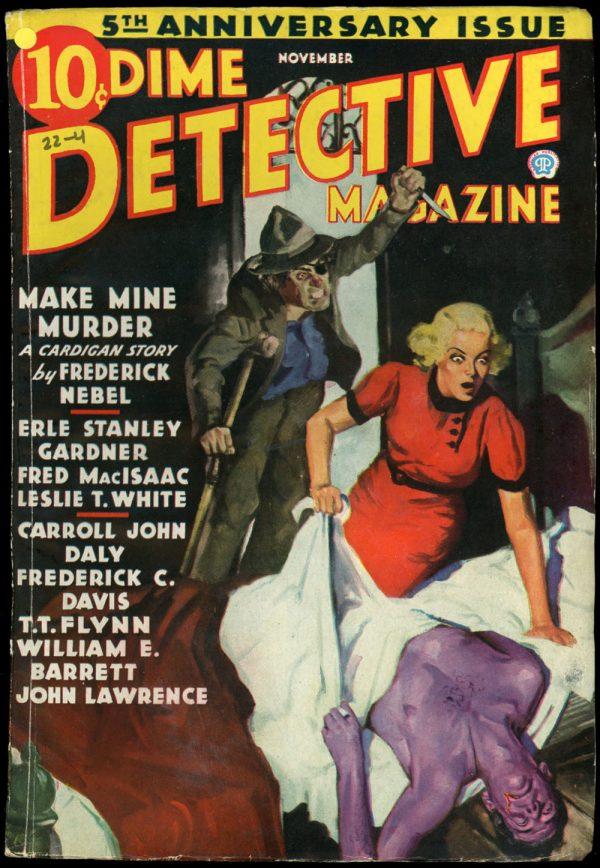 DIME DETECTIVE MAGAZINE. November 1936