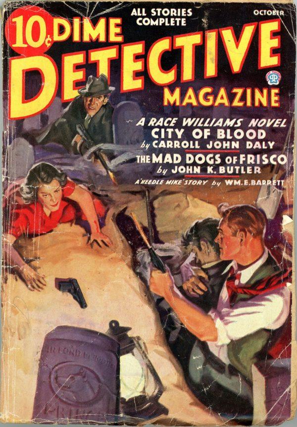 DIME DETECTIVE MAGAZINE. October 1936