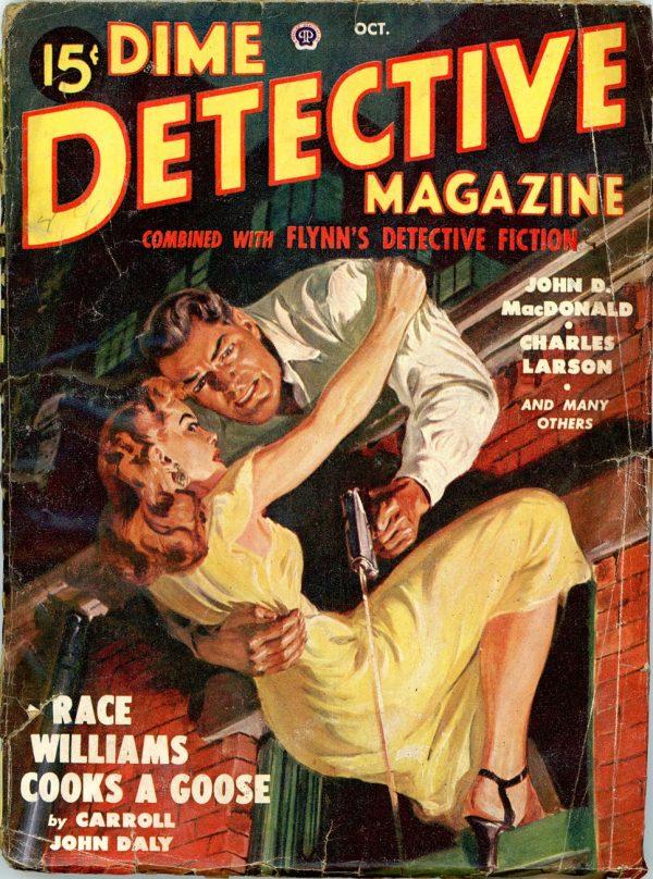 DIME DETECTIVE MAGAZINE. October 1949