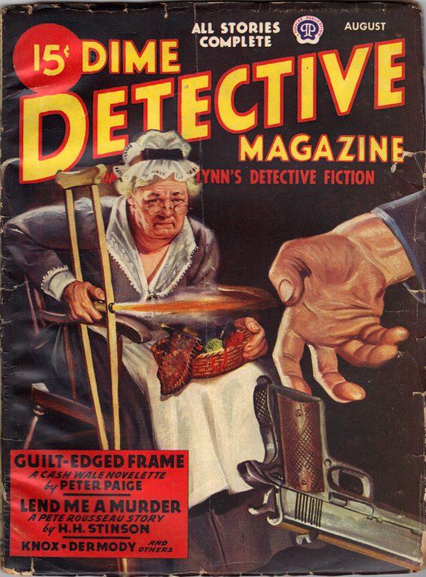 Dime Detective Magazine August 1946