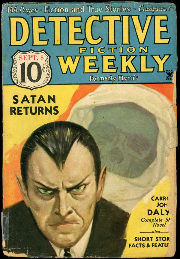 DETECTIVE FICTION WEEKLY. September 8, 1934