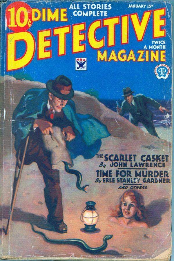 Dime Detective Magazine, January 15, 1934