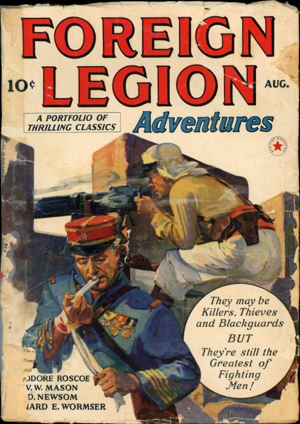 FOREIGN LEGION ADVENTURES. August, 1940