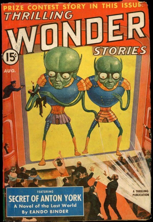 THRILLING WONDER STORIES. August 1940