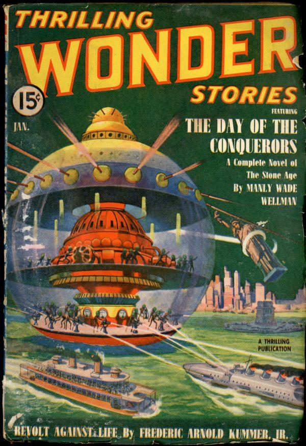 THRILLING WONDER STORIES. January 1940