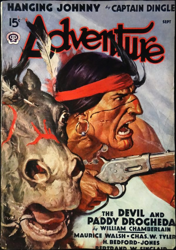 Adventure Vol. 99, No. 5 (Sept., 1938). Cover Art by W. F. Soare