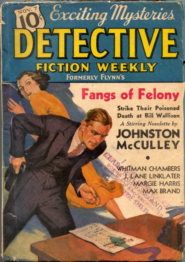 Detective Fiction Weekly November 7 1936