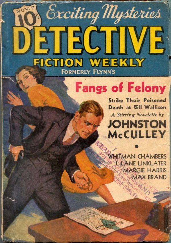 Detective Fiction Weekly November 7 1936