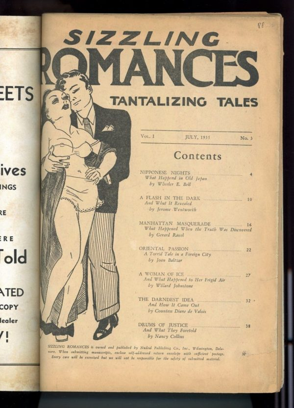 Sizzling Romances, July 1935 1