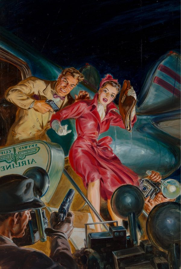 Dead Air, Dime Detective Magazine cover, June 1951