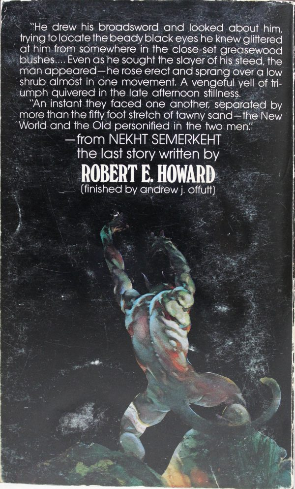 Zebra Books #239, 1977 Back