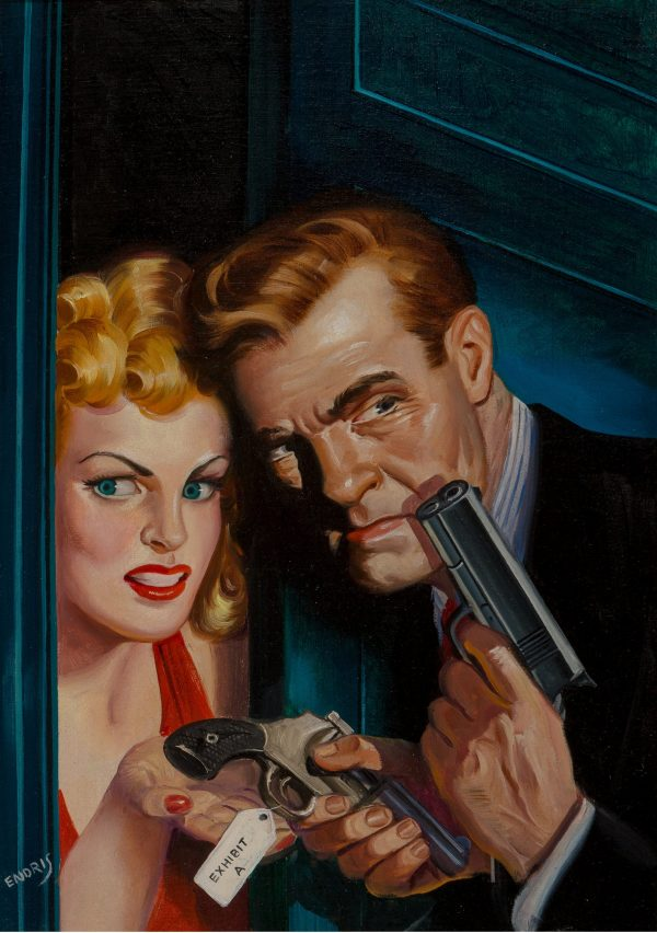 Crack Detective magazine cover, November 1945