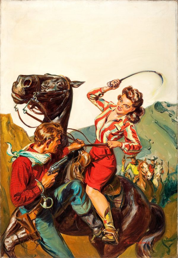 Western Trails pulp cover, March 1943