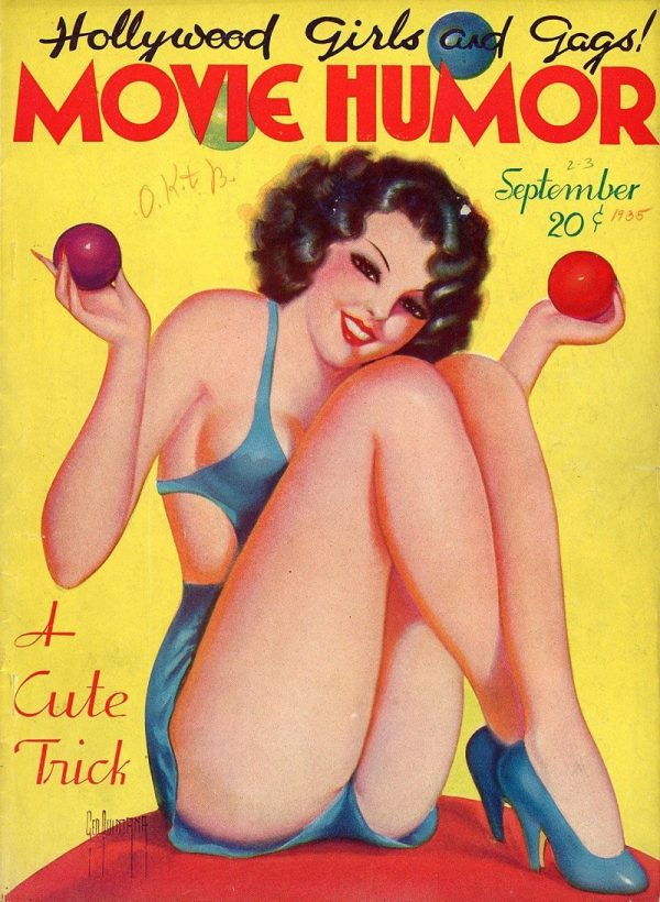Hollywood Girls and Gags Movie Humor Magazine September 1935