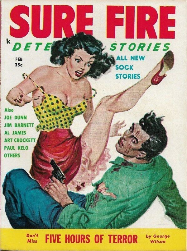 Sure Fire Detective Stories February 1958