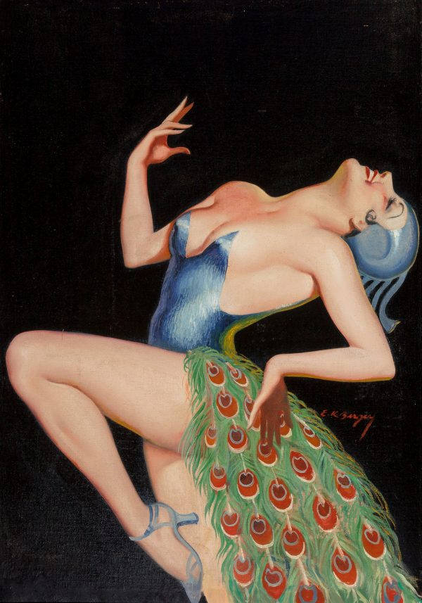 Pretty as a Peacock, La Paree Stories magazine cover, April 1935