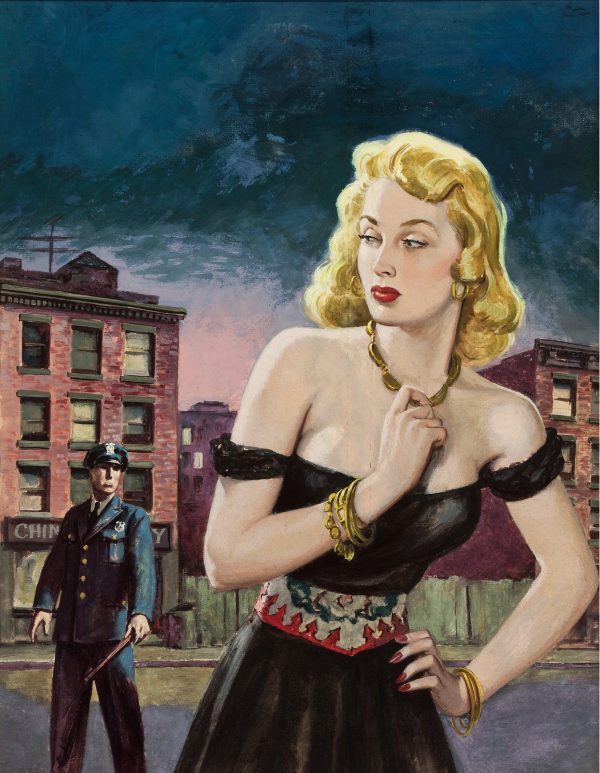 Crimson Crimes of the Lustful Ladies! Best True Fact Detective magazine cover, January circa 1950