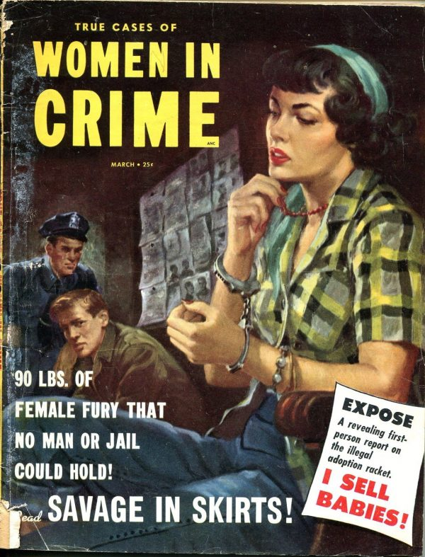 True Cases of Women in Crime March 1954
