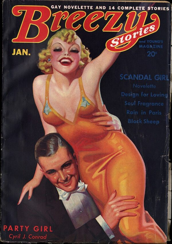 Cover Breezy Stories January 1936