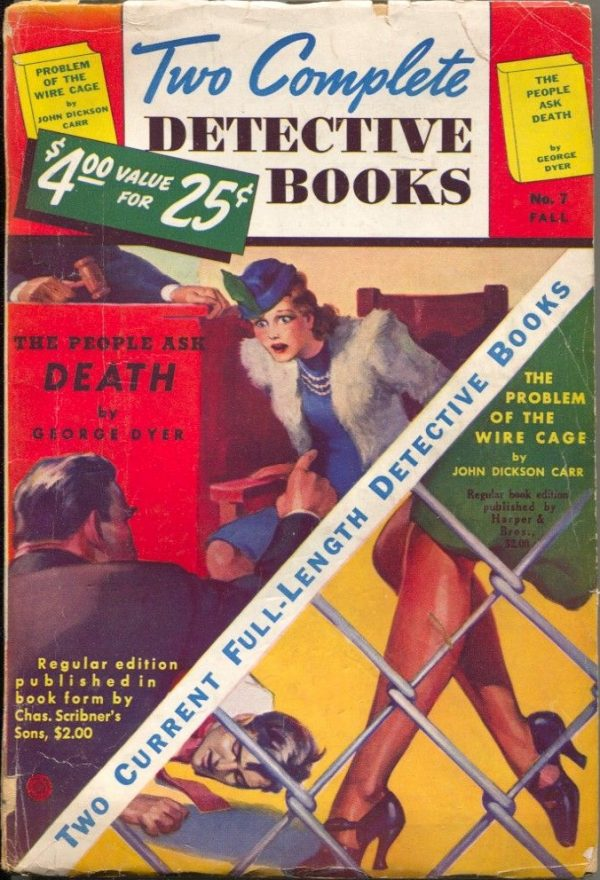 Two Complete Detective Books Fall 1940