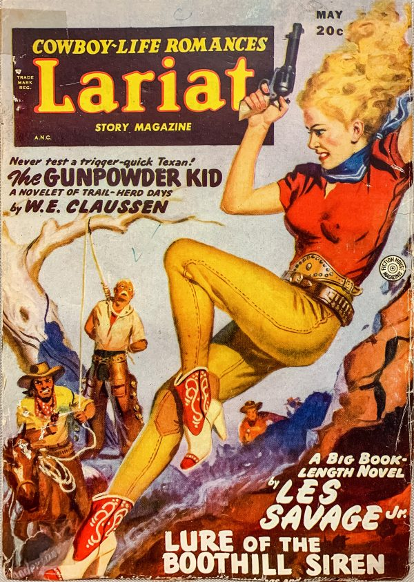 50488958983-lariat-story-magazine-volume-16-number-7-may-1949-cover-art-by-allen-anderson-for-lure-of-the-boothill-siren-by-les-savage-jr