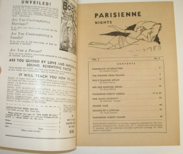 Parisienne Nights Vol.2 No.3 Contents