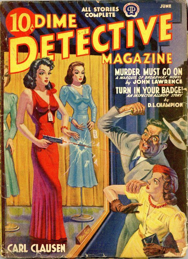 Dime Detective Magazine June 1940