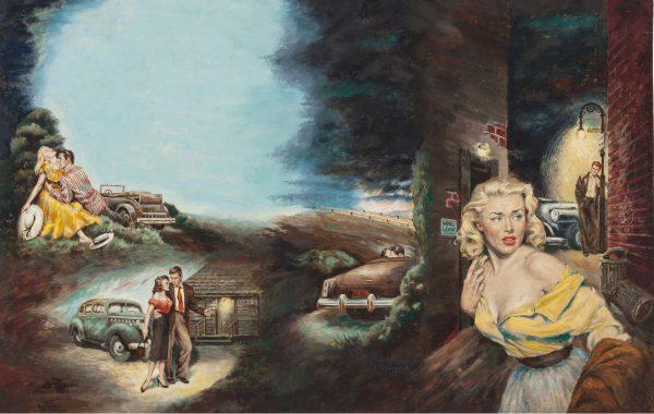 Frank Uppwall - Highway Episode - Original Artwork (1953)