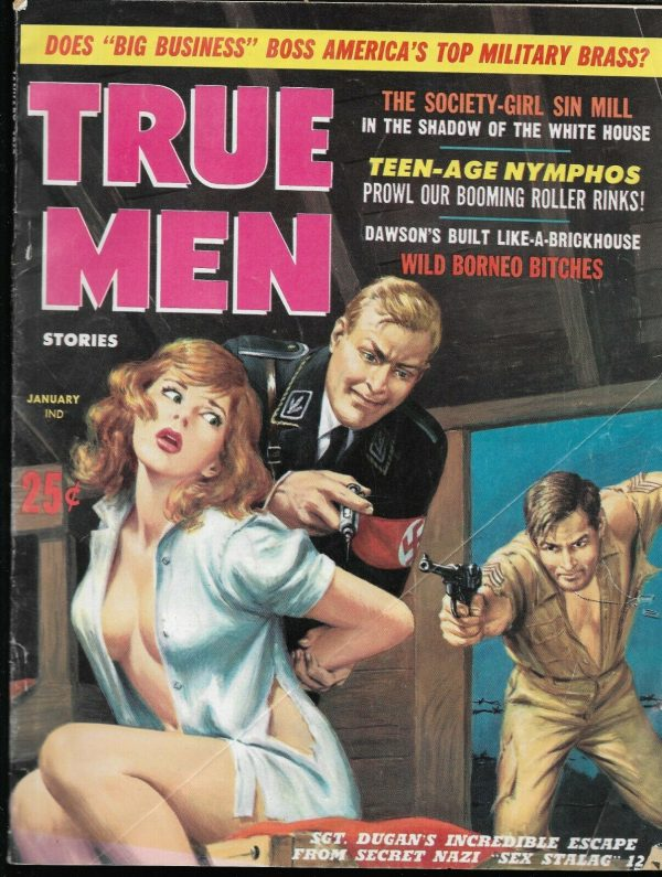 TRUE MEN STORIES, January 1962