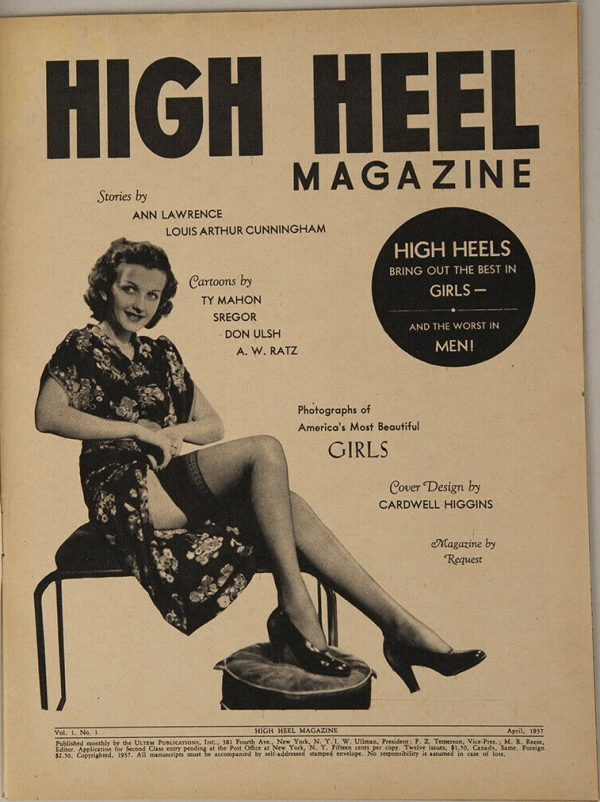 High Heel Magazine April 1937 contents
