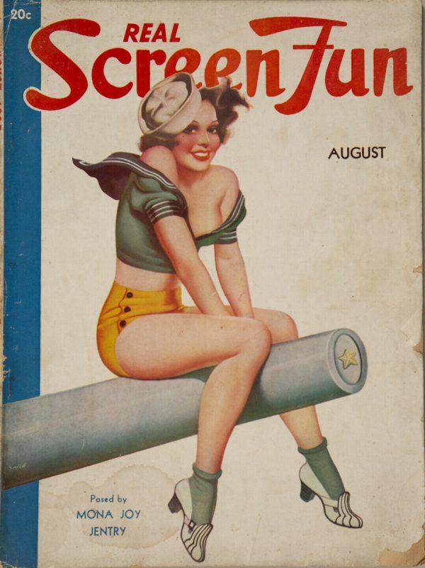 Real Screen Fun August 1937