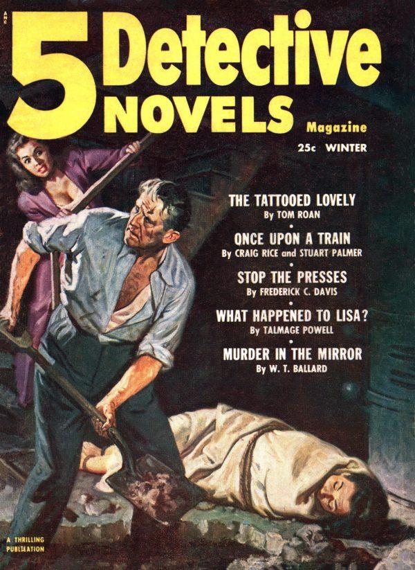5 Detective Novels Winter 1953