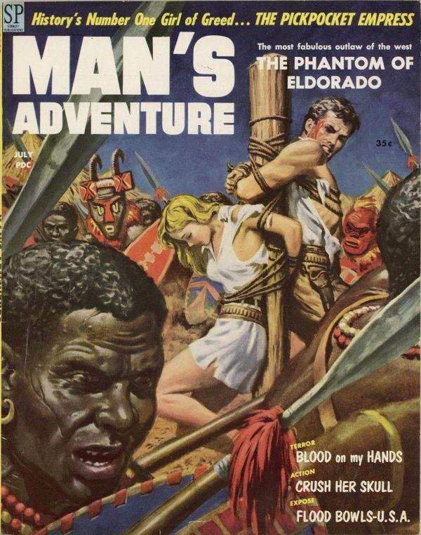 Man's Adventure July 1958
